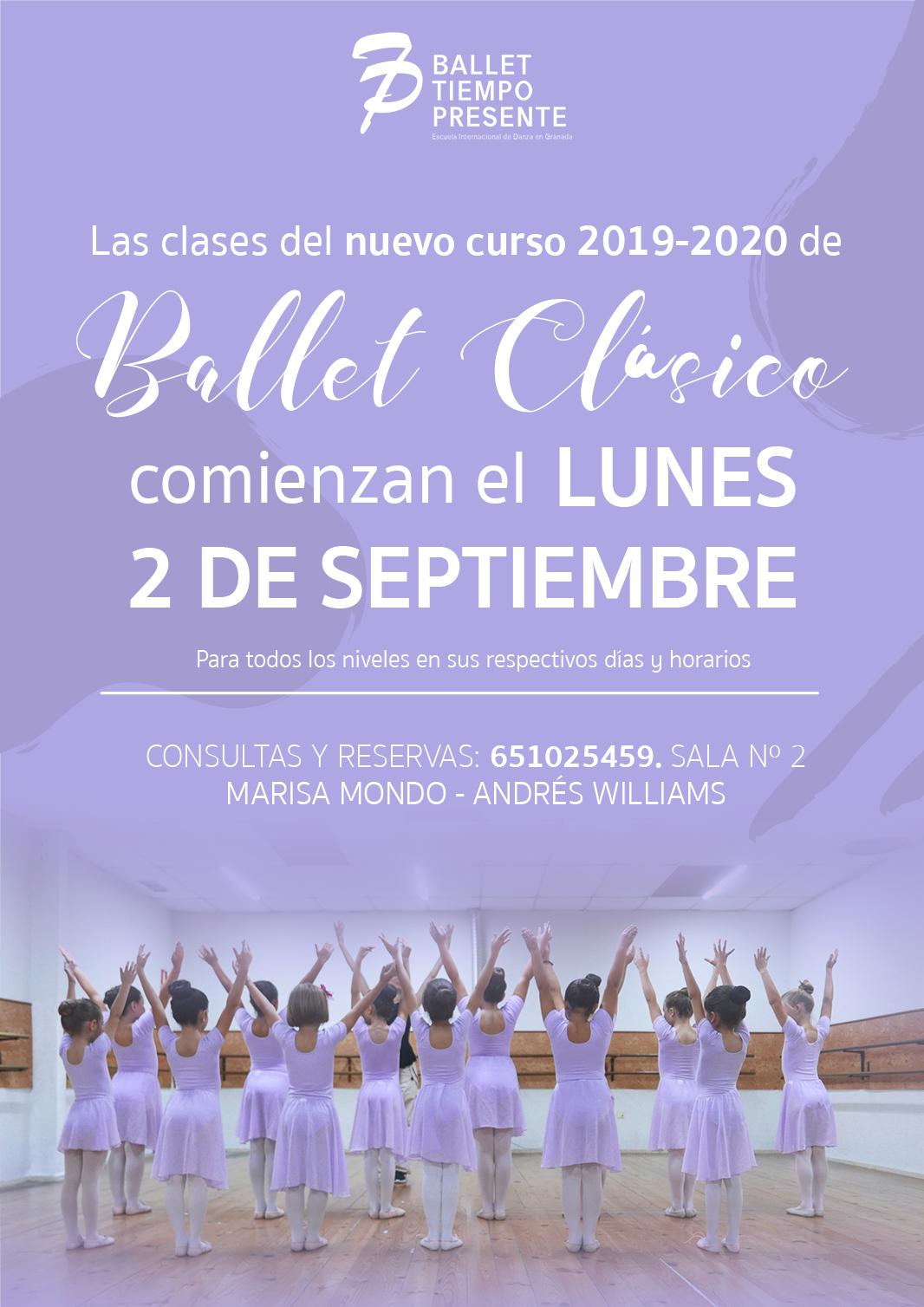 Comienzan las clases del curso 2019-2020 de Ballet Clásico