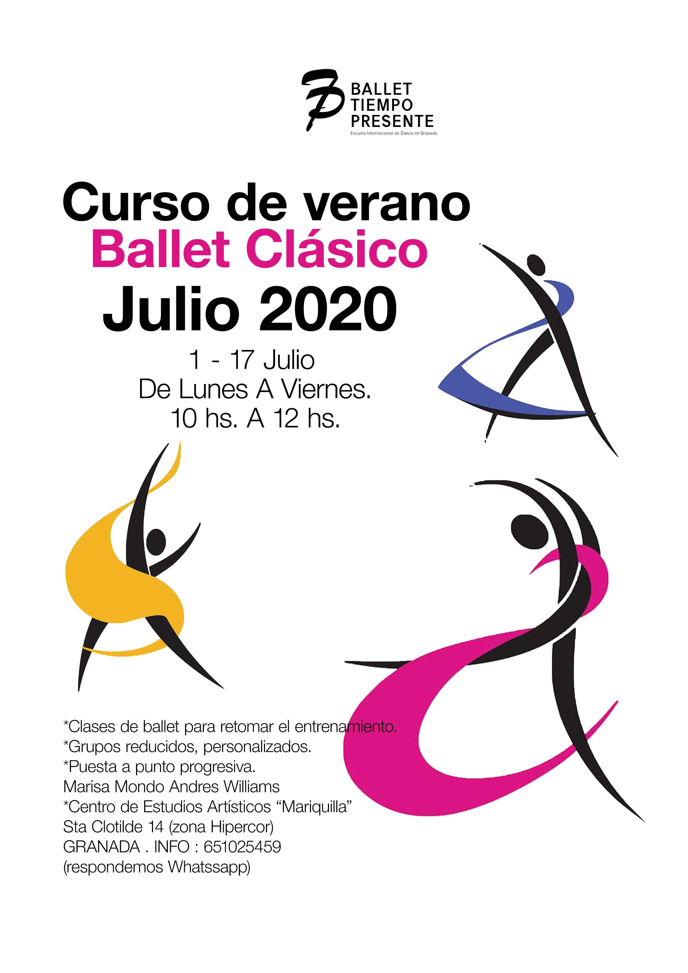 Retoma tus clases de ballet en nuestra Academia este verano 2020