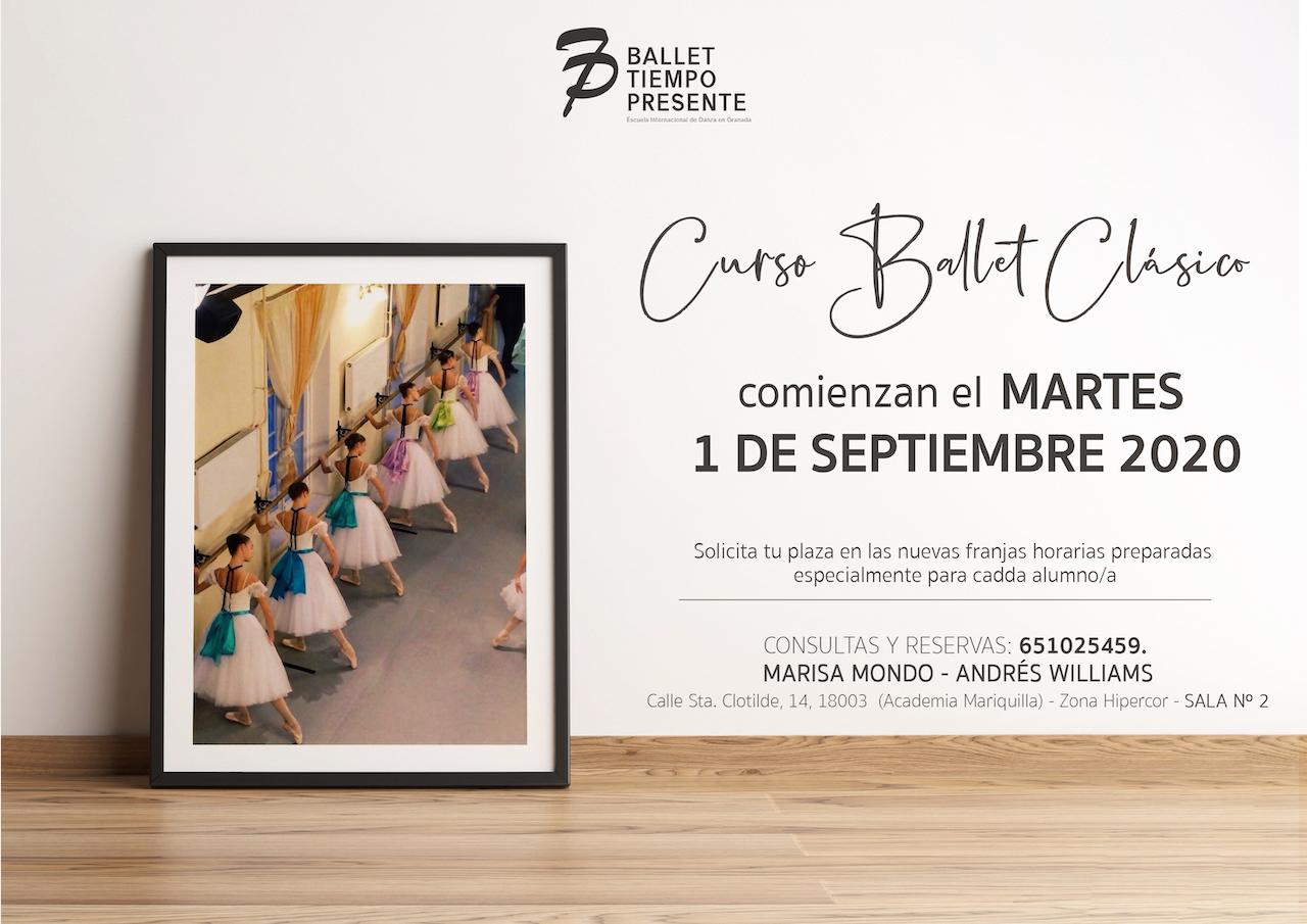 Comienzan las clases del curso 2020-2021 de Ballet Clásico